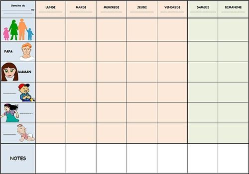 calendrier organiseur familial a imprimer