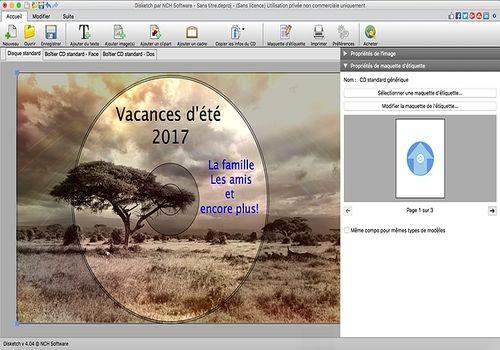 Telecharger Disketch - Logiciel gratuit d'étiquettes de CD pour Mac