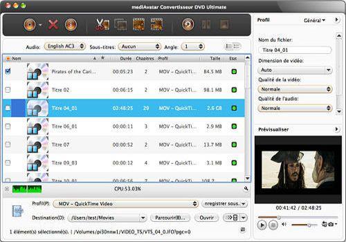 Telecharger MediAvatar Convertisseur DVD pour Mac