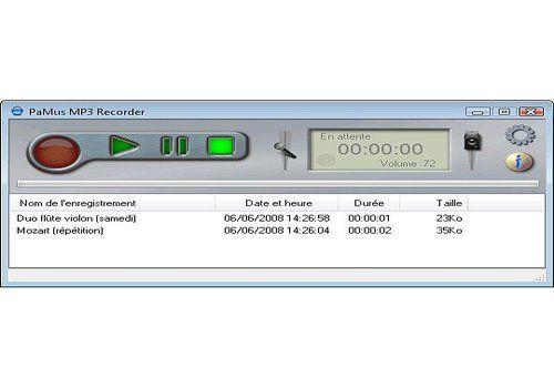 Telecharger PaMus MP3 Recorder