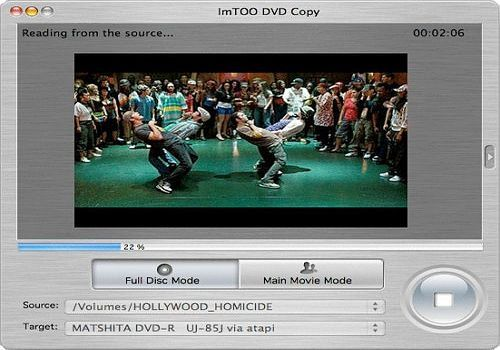 Telecharger ImTOO DVD Cloner pour Mac