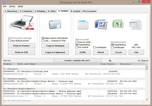 Telecharger Directory List & Print 3.37