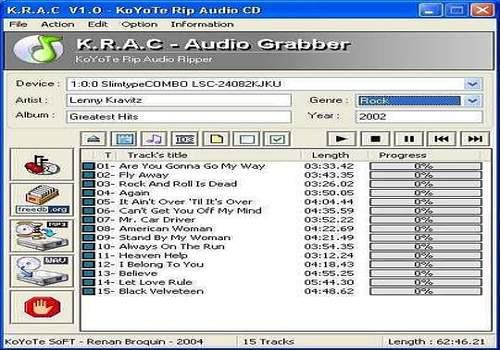 Telecharger Free CD Ripper - KRAC
