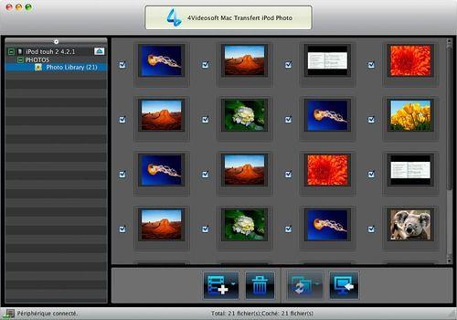 Telecharger 4Videosoft Mac Transfert iPod Photo 6.0.10