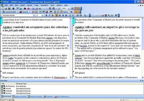 Telecharger @promt Office Translator English-Spanish