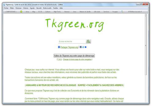 Telecharger Tkgreen QtWeb