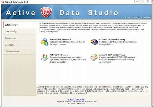 Telecharger Active@ Data Studio 13.0