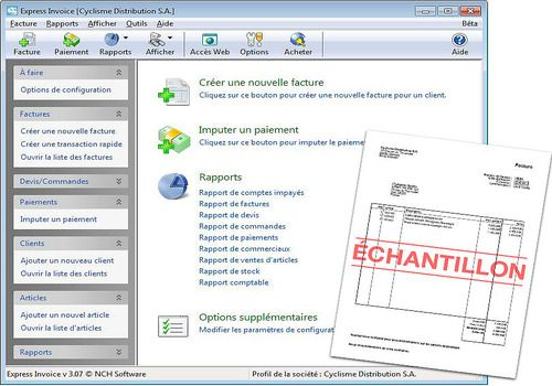 Telecharger Express Invoice - Facturation gratuite