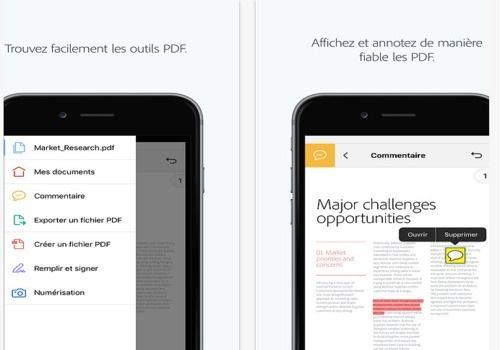 Telecharger Adobe Acrobat Reader pour iOS