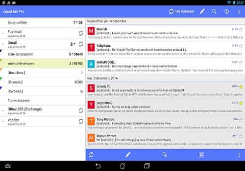 Telecharger Aqua Mail - email app