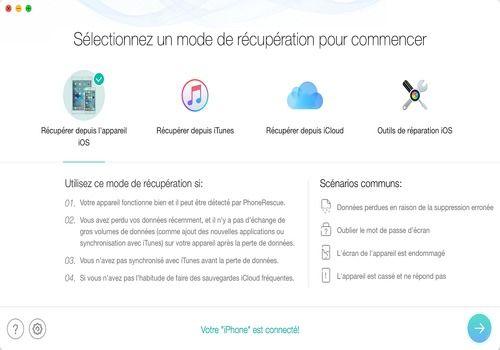 Telecharger PhoneRescue pour mac