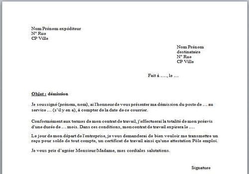type de lettre de demission gratuit Télécharger Modèle de lettre de démission gratuit | Le logiciel  type de lettre de demission gratuit
