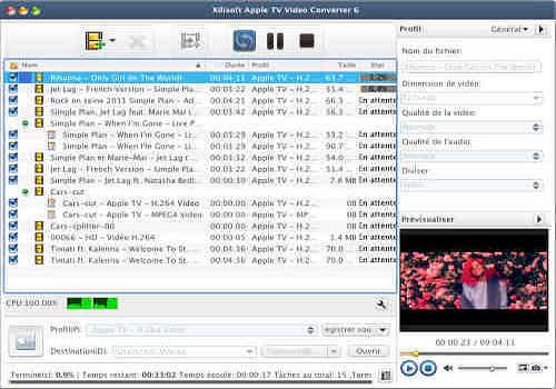 Telecharger Xilisoft Apple TV Vidéo Convertisseur pour Mac
