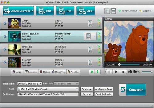 Telecharger 4Videosoft iPad2 Vidéo Convertisseur pour Mac