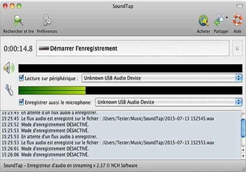 Telecharger SoundTap - Enregistrement de streaming audio gratuit pour Mac