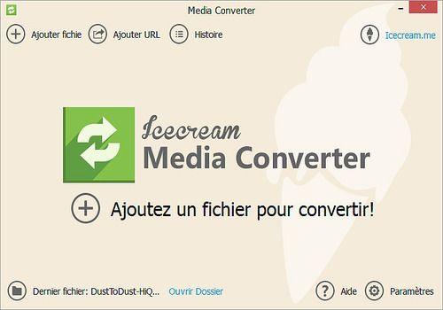 Telecharger Icecream Media Converter 1.56