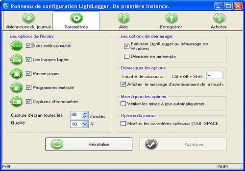Telecharger LightLogger Keylogger pour Windows 6.3.6.1