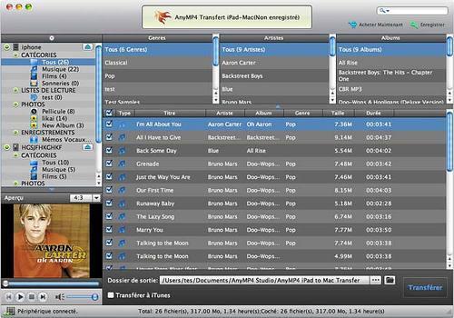 Telecharger AnyMP4 Transfert iPad-Mac