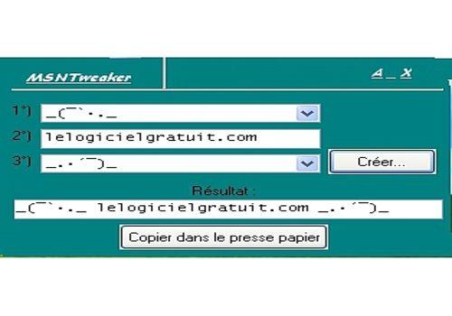 Telecharger MSN Tweaker