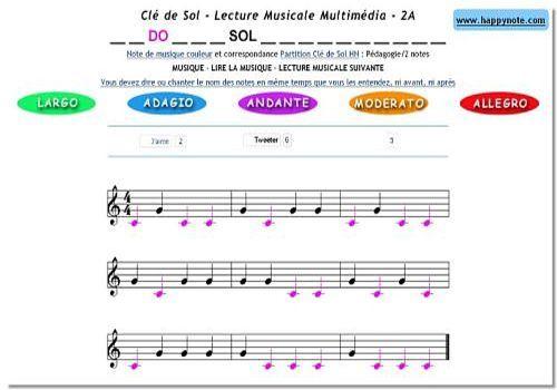 Telecharger Lecture Musicale PDF Clé de Sol