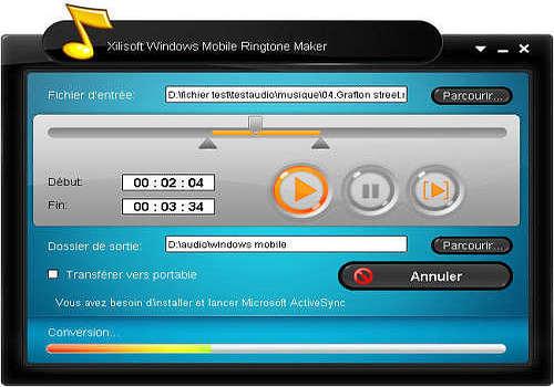 Telecharger Xilisoft Windows Mobile Sonnerie Créateur