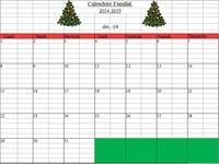 Calendrier Familial 2014-2015