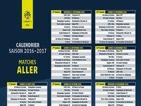 Calendrier Ligue 1 2016-2017