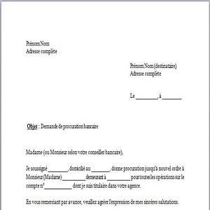 Télécharger Modèle de Lettre procuration bancaire gratuit | Le logiciel gratuit