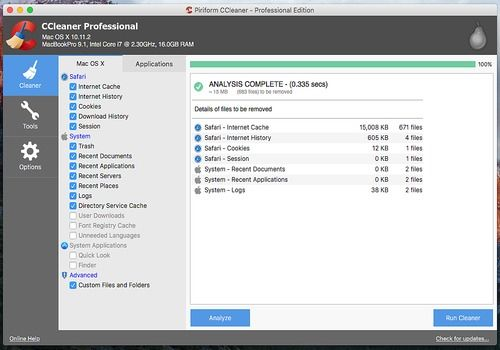 Telecharger CCleaner Mac