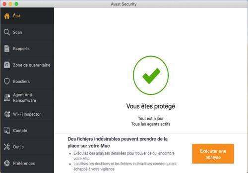 Telecharger Avast Antivirus Gratuit 2020 pour Mac
