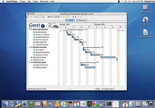 logiciel gantt gratuit pour mac