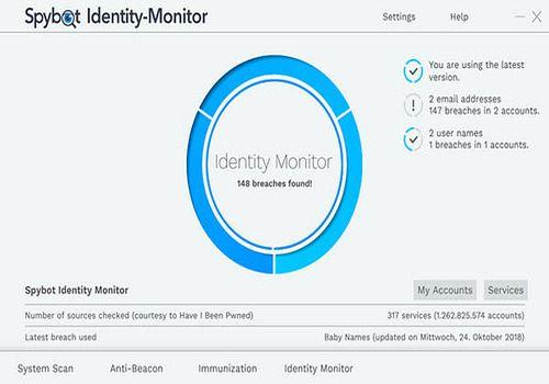 Telecharger Spybot Identity Monitor