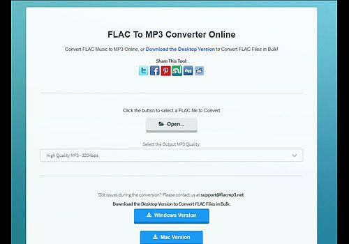 Telecharger FLAC To MP3 Converter Online 1.0