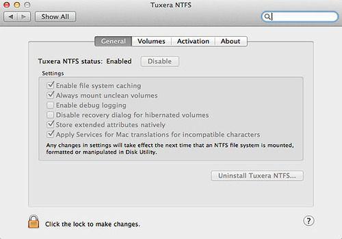 Telecharger Tuxera NTFS for Mac 2018.02