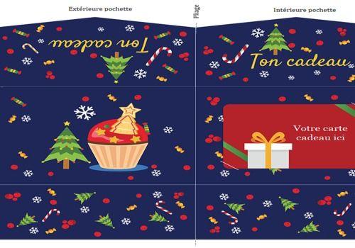 Telecharger Patron de pochette carte cadeau Noël