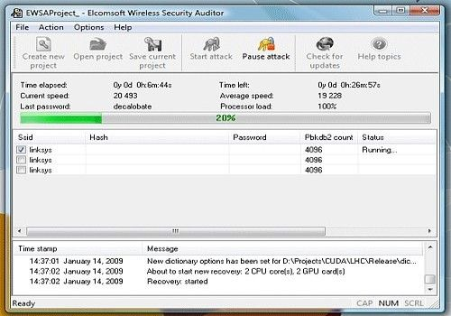 Telecharger Elcomsoft Wireless Security Auditor