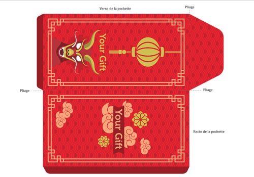 Telecharger Enveloppe Rouge à imprimer