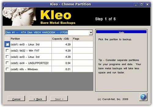 Telecharger Kleo Bare Metal Backup for Servers