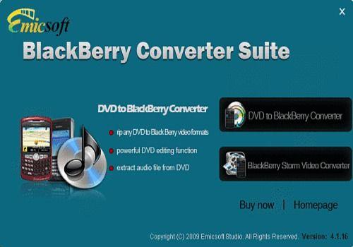 Telecharger Emicsoft Série de BlackBerry Convertisseur
