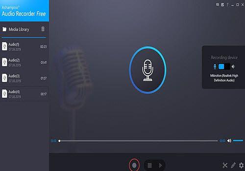 Telecharger Ashampoo Audio Recorder Free