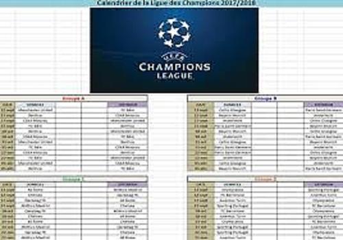 Telecharger Calendrier Ligue des Champions 2017-2018