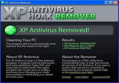 Telecharger XP Antivirus Remover