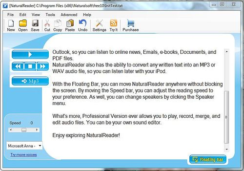Telecharger Free NaturalReader