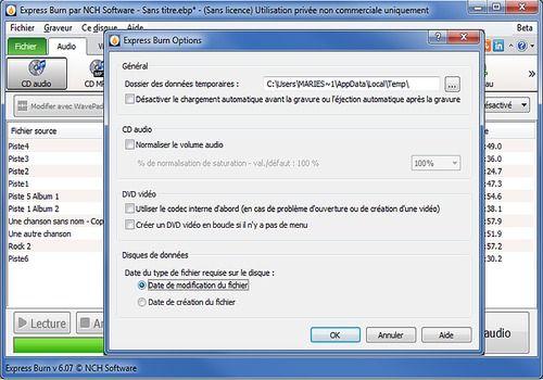 Telecharger Express Burn - Logiciel de gravure de CD