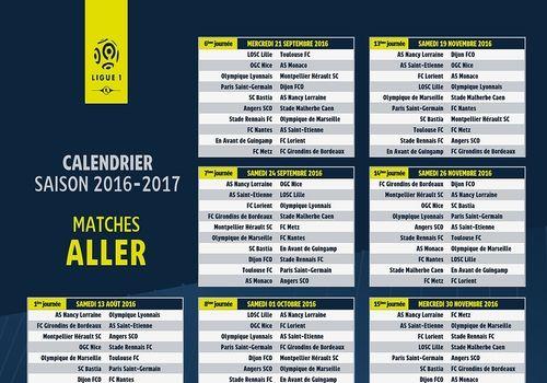 Telecharger Calendrier Ligue 1 2016-2017