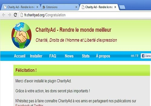 Telecharger CharityAd (FF & Chrome)