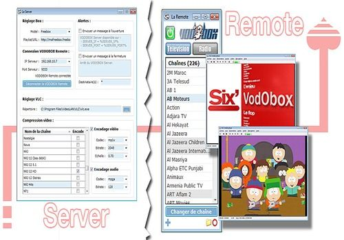 Telecharger VODOBOX Remote / Server