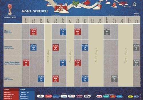 Telecharger Calendrier officiel de la coupe des confédérations 2017