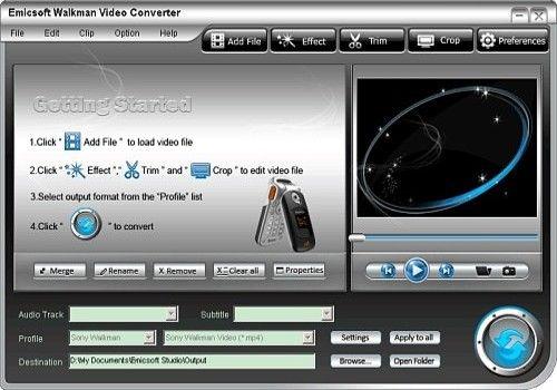 Telecharger Emicsoft Walkman Convertisseur Vidéo