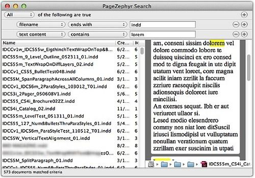 Telecharger PageZephyr Search 3.06
